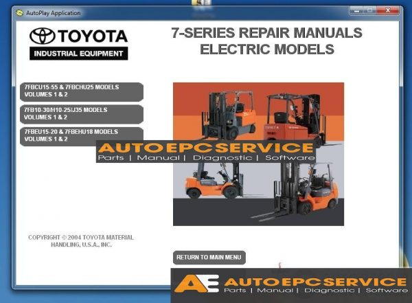 Toyota Forklift Full Set Manual DVD \u2013 Auto Repair Software-Auto EPC