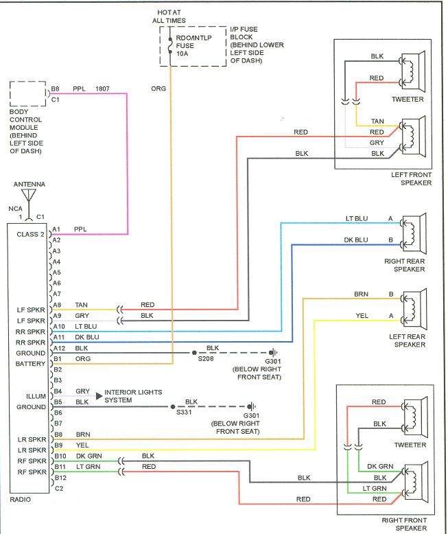 2003 Chevy Silverado Radio Wiring Harness Color Code Wiring Diagram