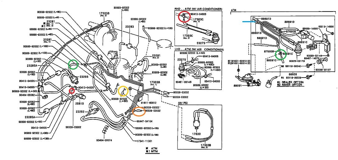toyota 1e 2e engine diagram