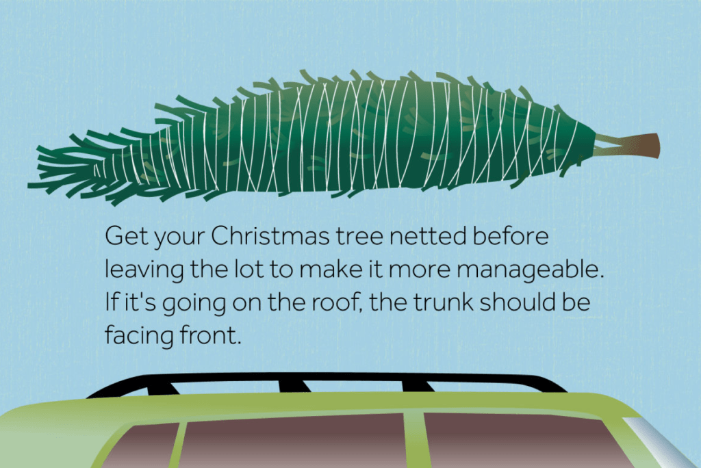 traveling with Christmas tree on top of car | Spring, Texas, Auto Glass Maxx, gives you reliability, safety, and better prices than Auto Glass Maxx, serving Houston & surrounding areas. Across the street from Klein High School, 77379 | 16606 Stuebner Airline Rd, Spring, TX 77379 (281) 257-4241