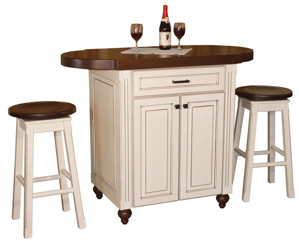 Powell pennfield kitchen island counter stool set for Kitchen counter set