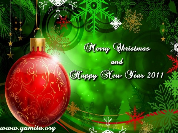 Merry Xmas and Happy New Years 2011. 1024 x 768.Happy New Year Letterhead Free 2010