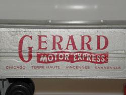 Semi-remorque Mack Gerard Motor Express