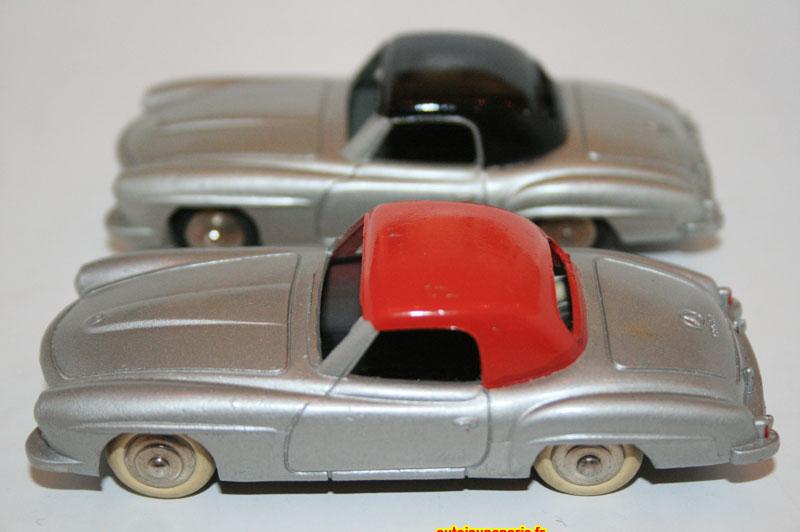 Essai de couleur sur le 190SL Dinky Toys et couleur de série