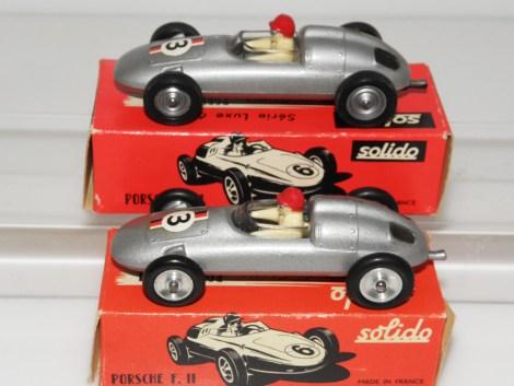 Solido Porsche F2 avec jantes en acier et en zamac moulé