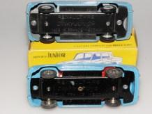 Dinky Toys Junior Renault R8: chassis série 500 et série 100Junior