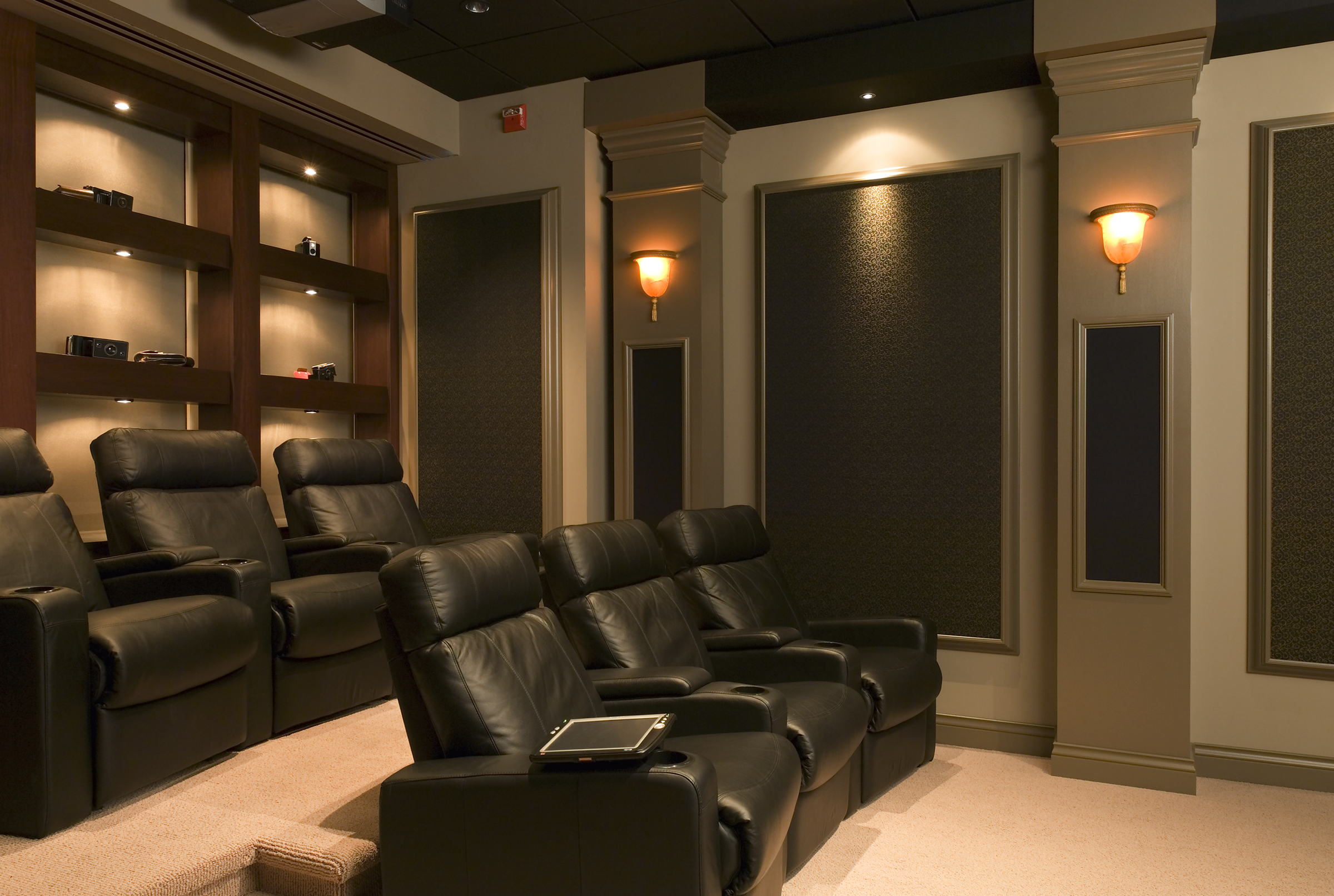 Home Theater Wall Sconces 5 Unique Home Theater Rooms Automated Lifestyles