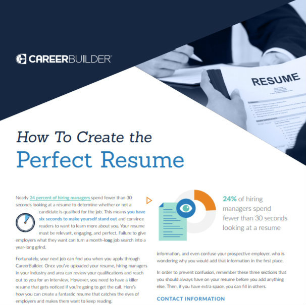 How To Create the Perfect Resume Career Tips Automationtechies - create a perfect resume