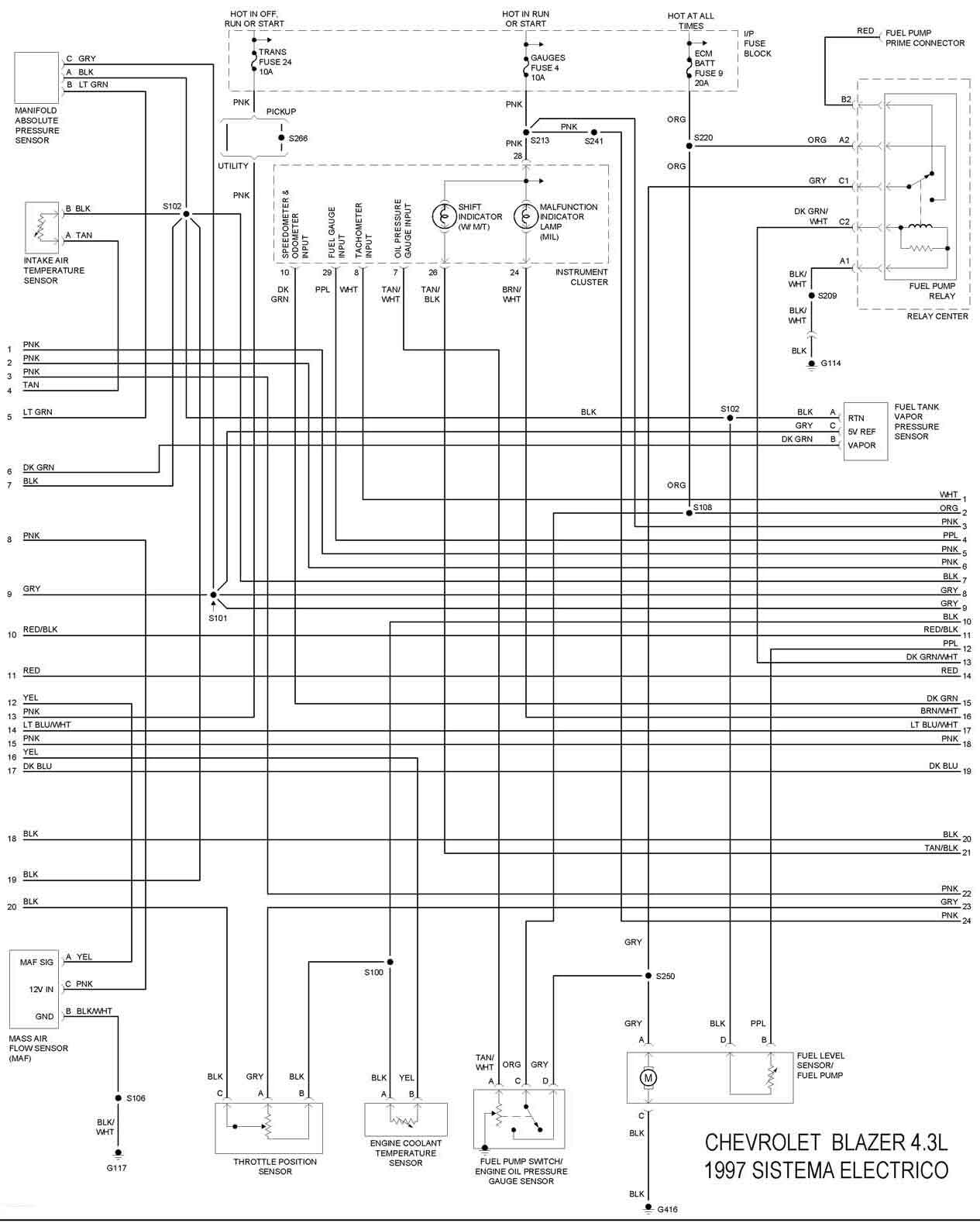 diagrama de cableado for 2000 chevy blazer