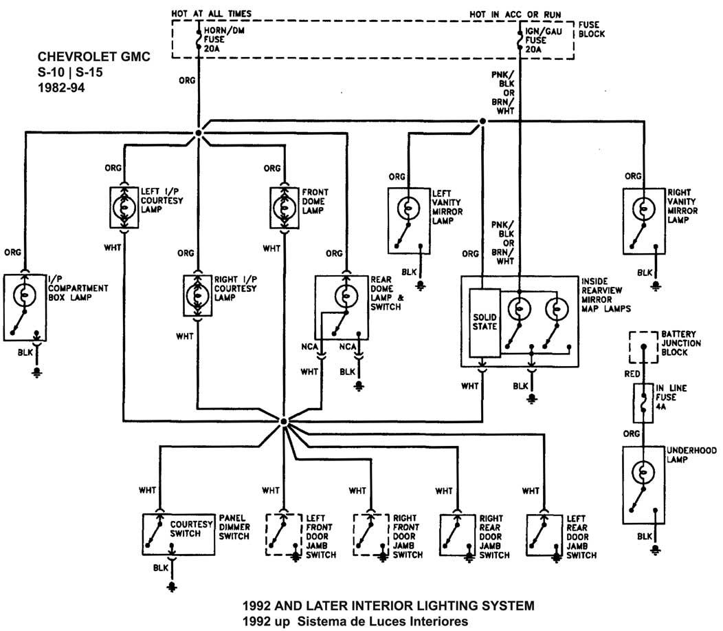 1995 chevrolet pick up diagrama de cableado