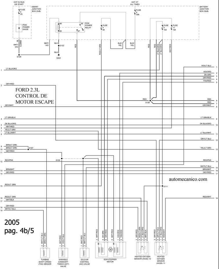 2012 ford escape Diagrama del motor
