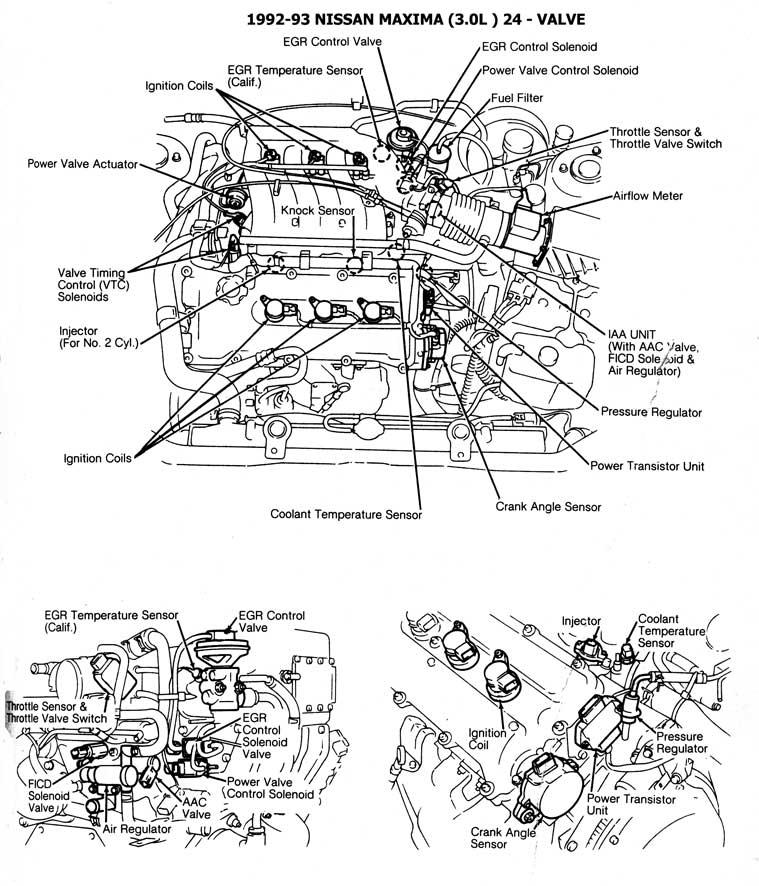 98 nissan maxima v6 3000 engine diagram