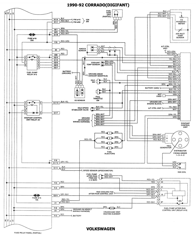 1986 volkswagen cabriolet diagrama de cableado