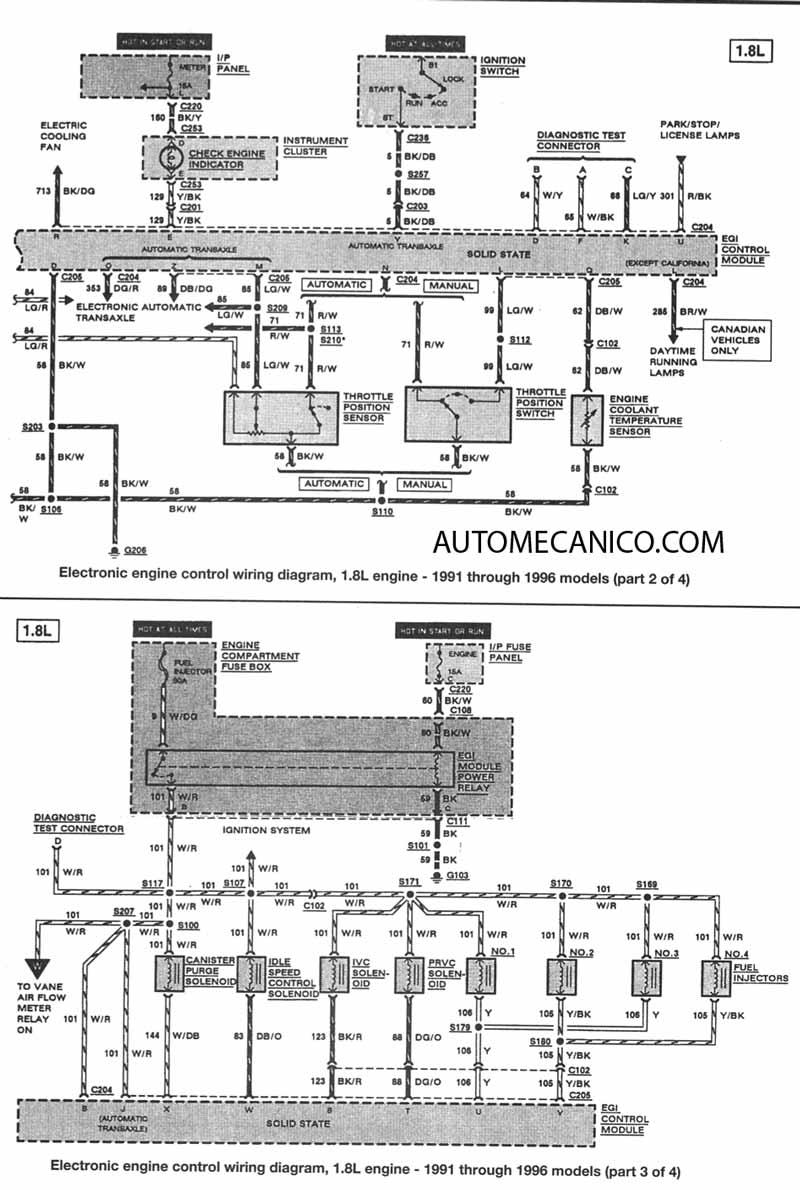 ford f150 4 9l Diagrama del motor