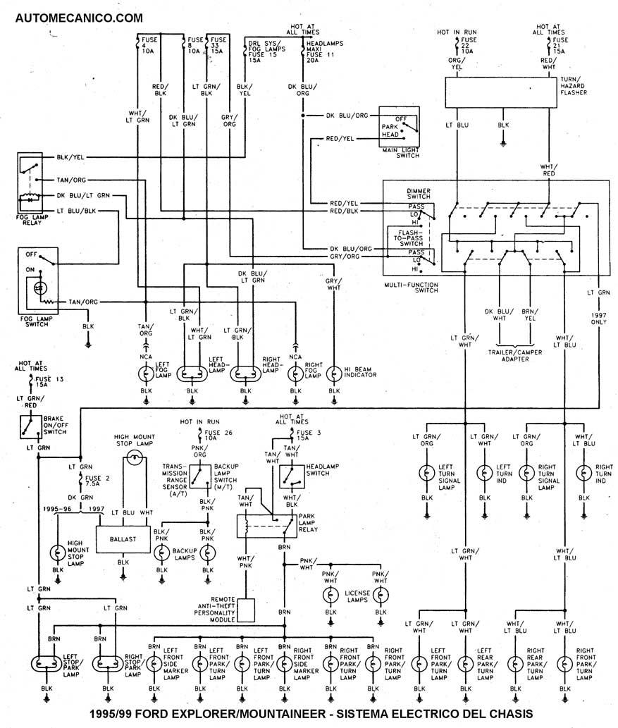 1993 mercury villager diagrama de cableado