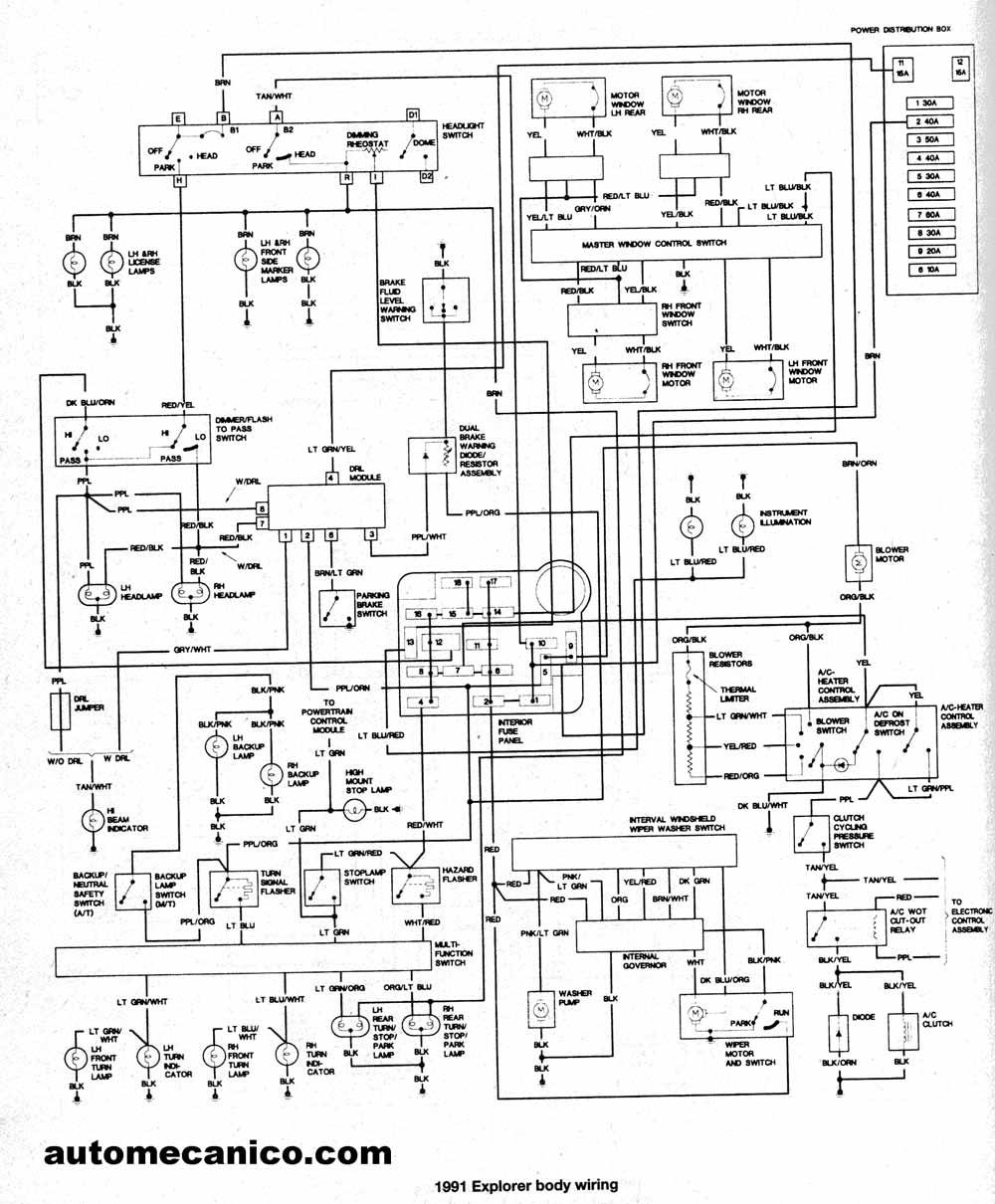 1992 Diagrama del motor