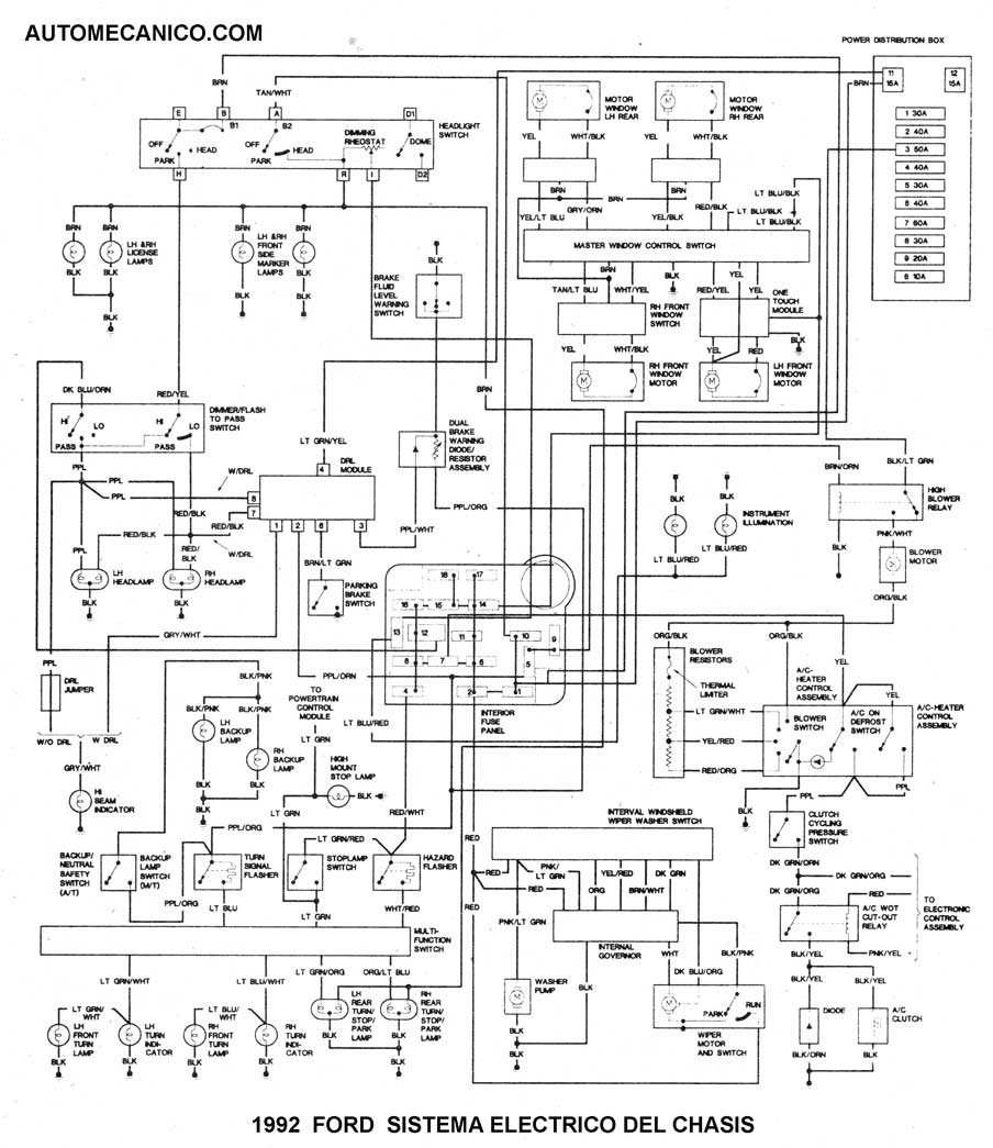 mazda diagrama de cableado de la pc