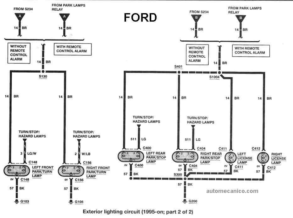 2000 f250 Diagrama del motor
