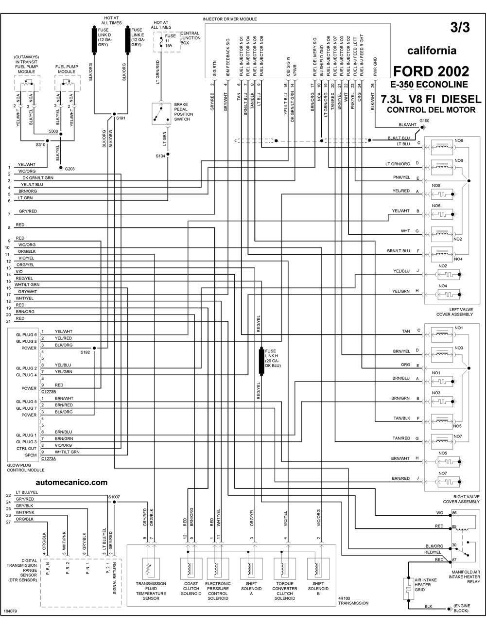 1950 ford v8 Diagrama del motor