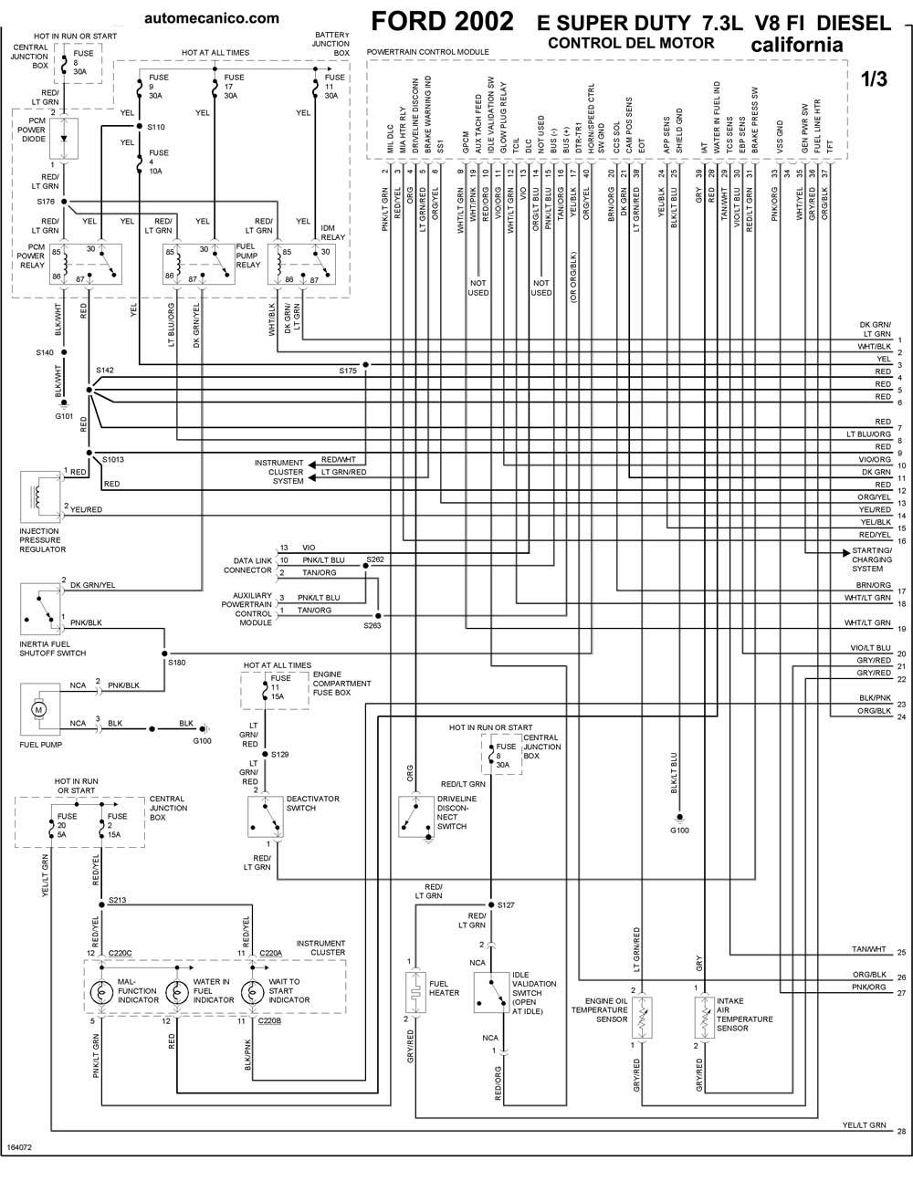 ford 6 4 liter diesel Diagrama del motor