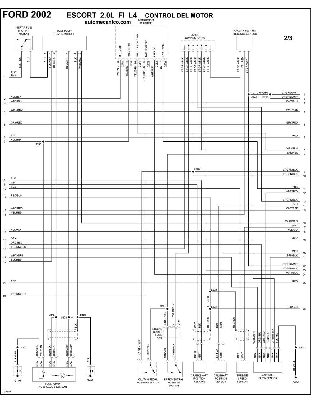 ford 7 3l Diagrama del motor
