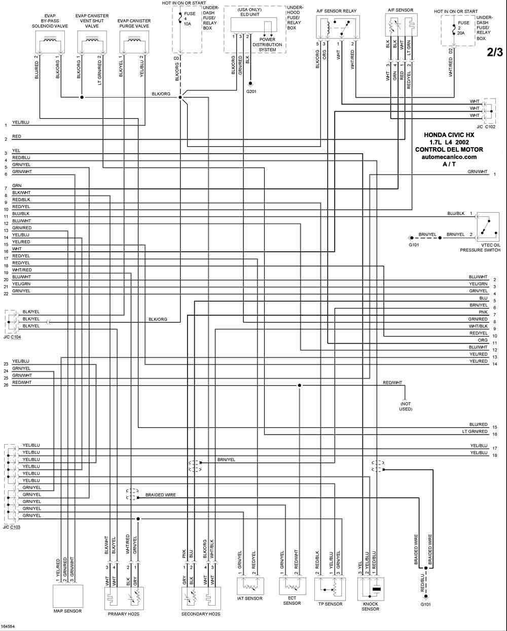 s2000 Diagrama del motor