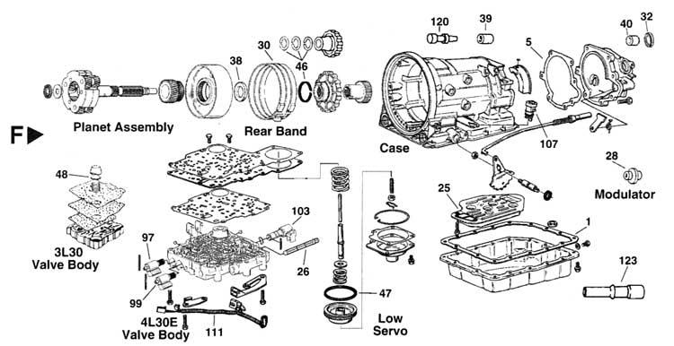 1989 pontiac 3 1 Diagrama del motor