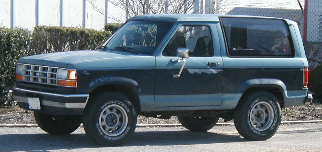 Ford Bronco II - Specs of wheel sizes, tires, PCD, Offset and Rims