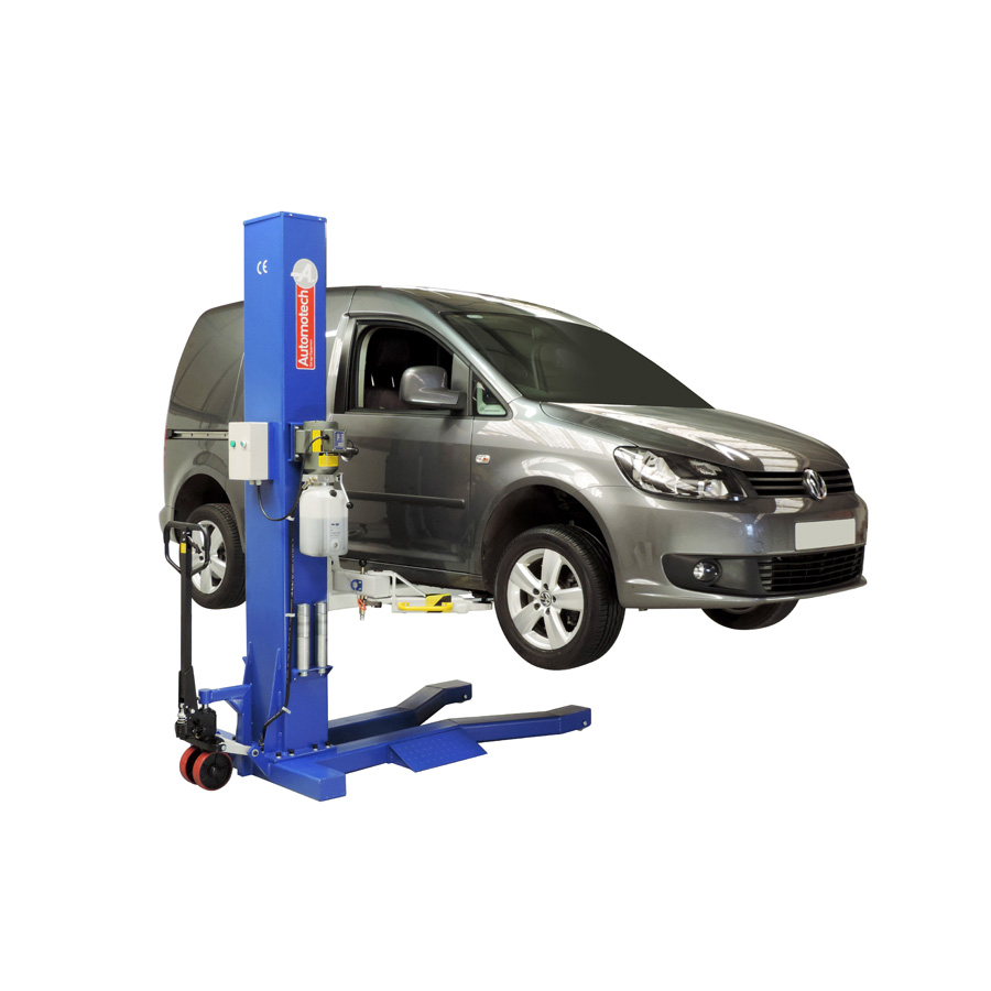 Domestic Garage Car Lift As 7521 Mobile Single Post Vehicle Lift Automotech Services Limited