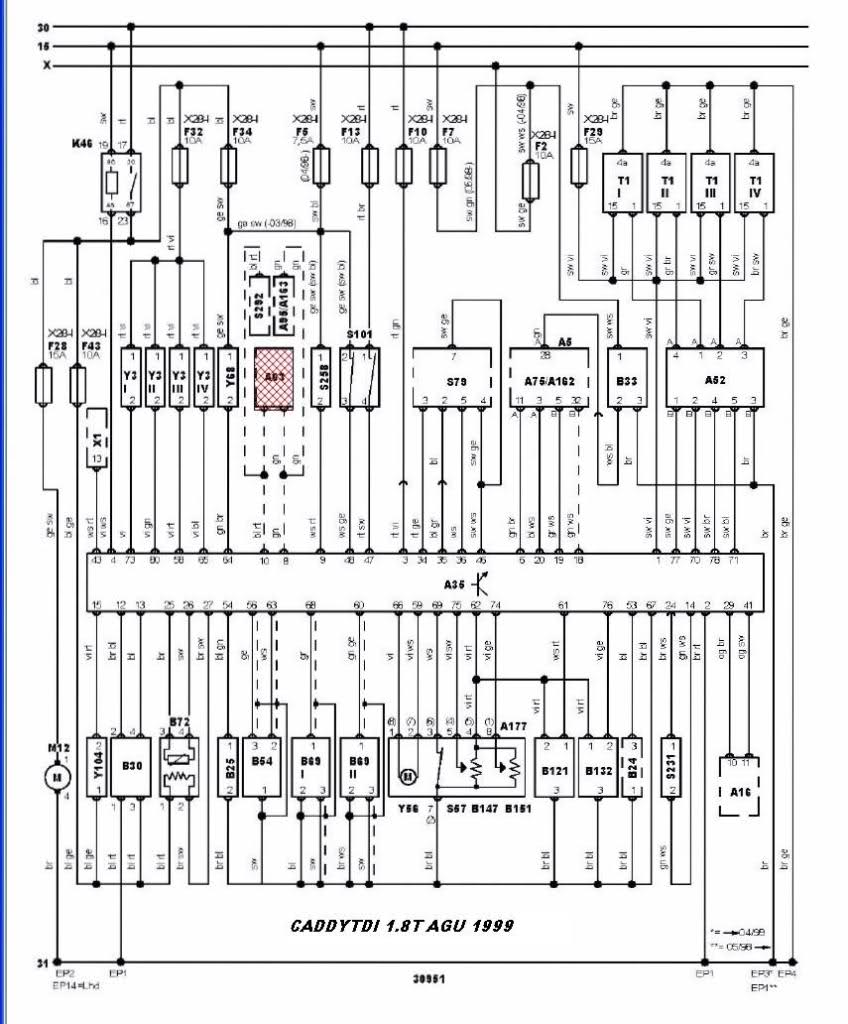 vw golf mk4 wiring diagram