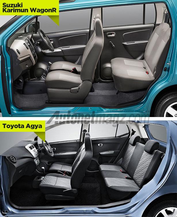 Perbedaan interior Suzuki Karimun Wagon R vs Toyota Agya