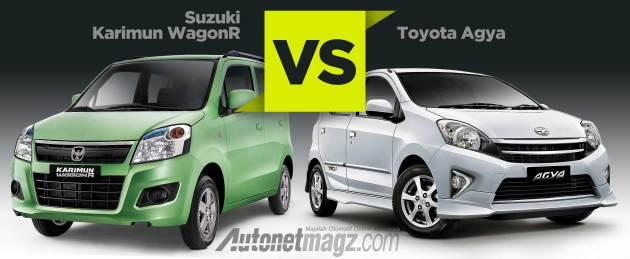 Komparasi perbandingan mobil LCGC Suzuki Karimun Wagon R vs Toyota Agya