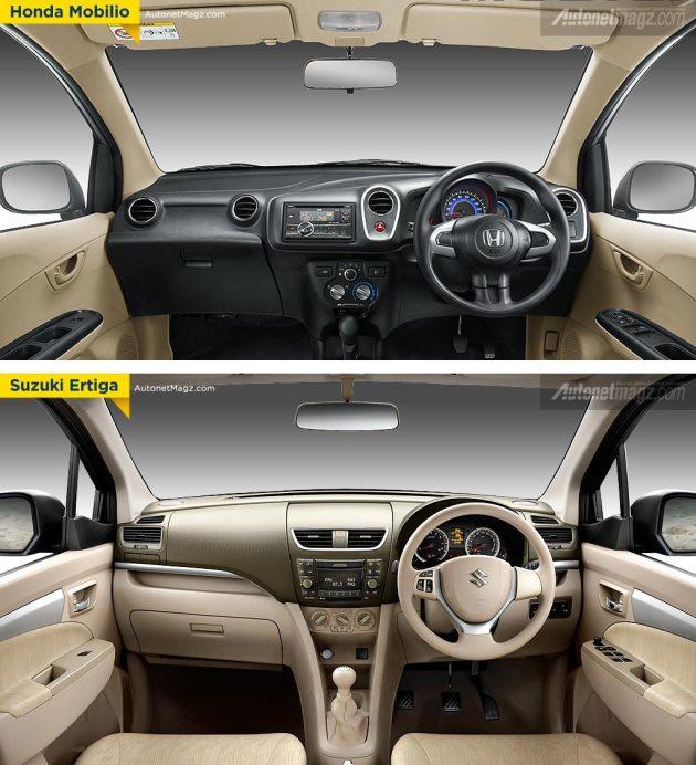 Interior Honda Mobilio vs Suzuki Ertiga