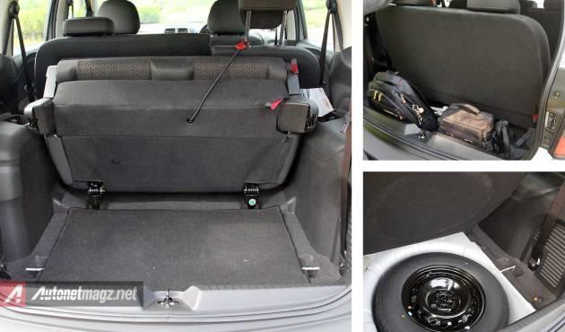 Bagasi Chevrolet Spin Activ dan tempat ban serep