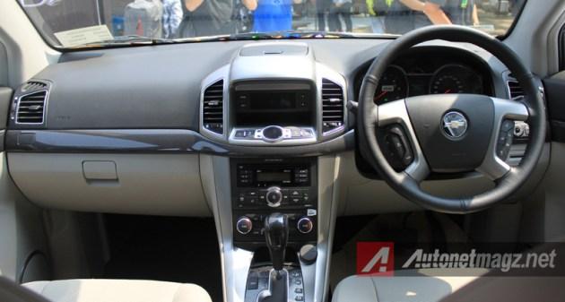 Chevrolet Captiva Facelift dashboard
