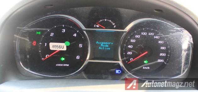 Chevrolet Captiva Facelift speedometer