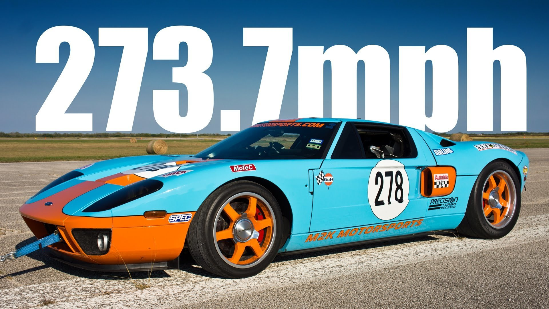 1 Mijl Video Gulf Ford Gt Haalt 440 Km H In 1 Mijl