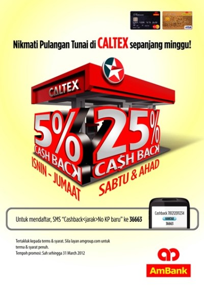 Cash Back for AmBank Credit Card users at Caltex stations - Autoworld.com.my