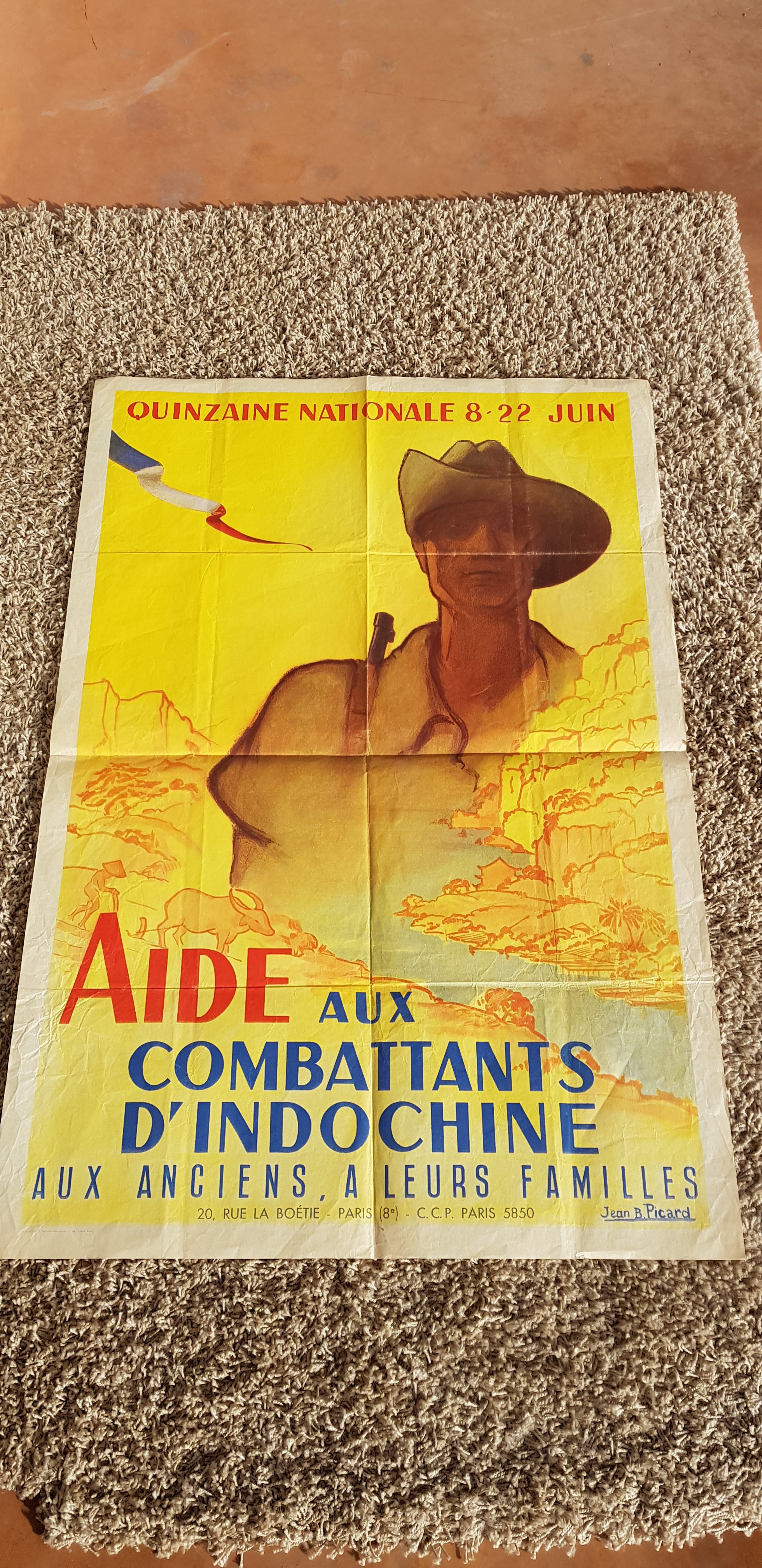 Meubles Indochinois Anciens Affiche Ancienne Jean B Picard