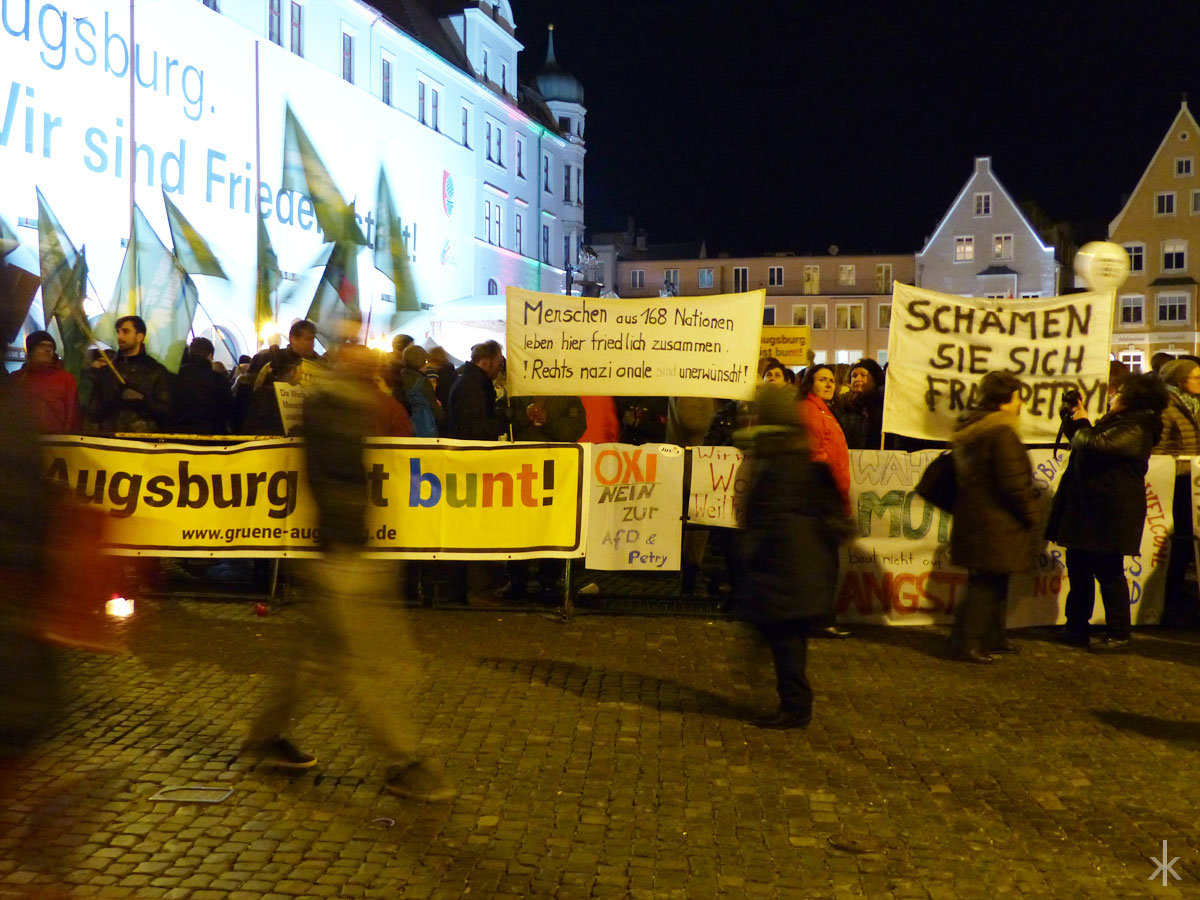 Amore statt Peng Peng Demonstration in Augsburg