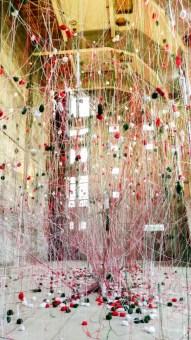 Installation Wollfront im Ofenhaus –Sebastian Giussandi, Daniel Man