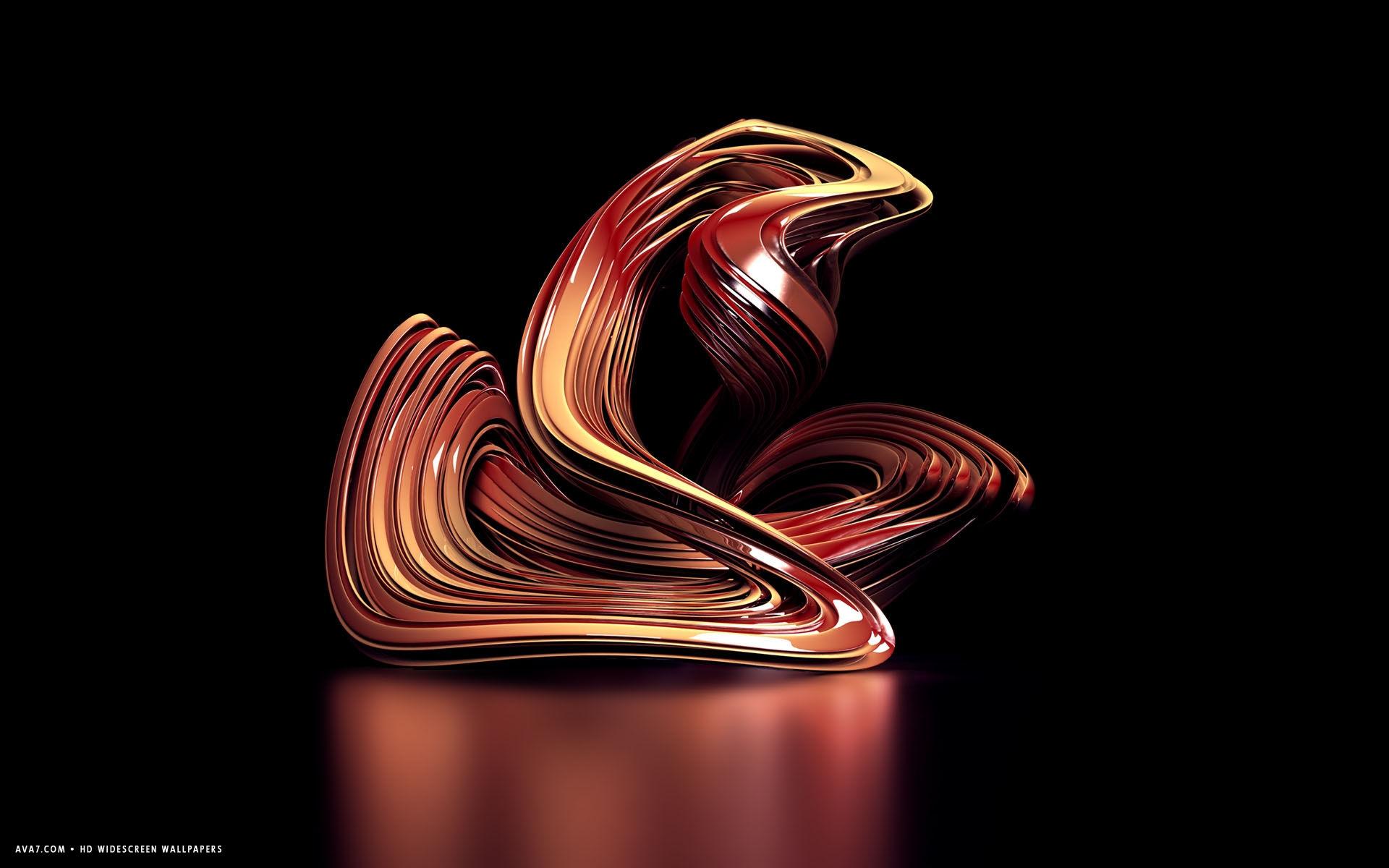 3d Animated Snake Live Wallpaper 3d Sculpture Red Abstract Shape Hd Widescreen Wallpaper