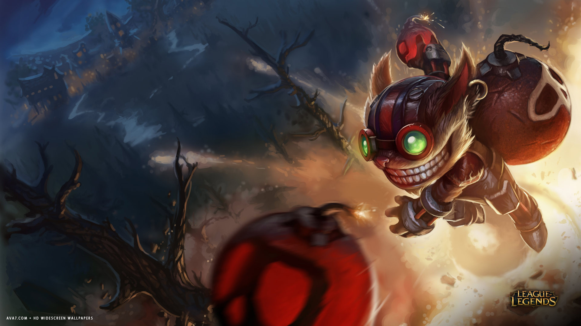 Soccer Girl Wallpaper League Of Legends Game Lol Ziggs Bomb Hd Widescreen