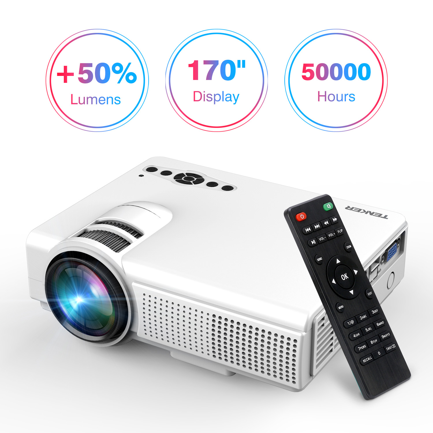 Spot Led Telecommande Projector Upgraded Lumens Tenker Mini Projector With 170