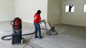 Dustless grinding and polishing