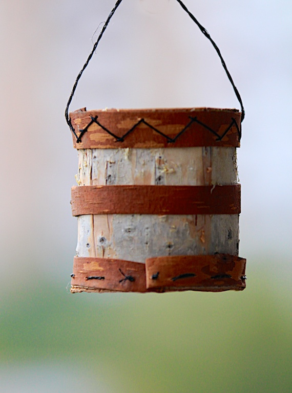 A birch bark bucket made by 93 year old Praskovia Matannakova. Yakutia, Siberia. Photo © 2013 Galya Morrell