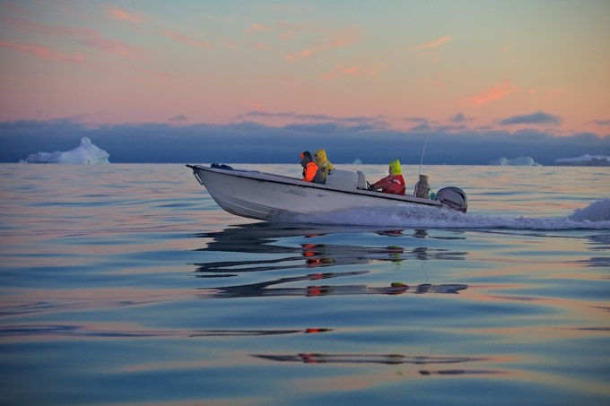 Our Small Open Boat. Northern Greenland. Photo © Galya Morrell
