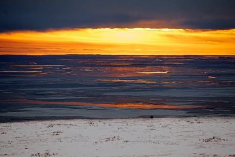 Sunrise at Bering Sea. Chukotka. Photo  © 2013 Galya Morrell