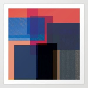 alex van rossum - when the walls fall - print