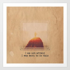 not afraid - print - alex van rossum
